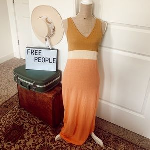 Free People NWT knit maxi
